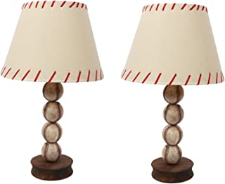 DEI Stacked Baseball Table Top Décor Lamp and Shade, 23