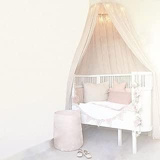 Zerodis Princess Mosquito Net mantiene alejados a los insectos Instalaci/ón r/ápida y f/ácil Cuatro mosquiteros de cortina para postes de esquina blanca#1 sin soporte