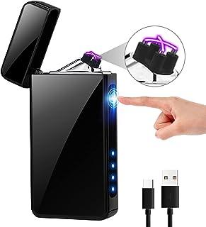 KIMILAR elektrische aansteker met usb aansluiting, oplaadbaar via aanrakingssensor, winddicht, vlamloze elektronische aans...