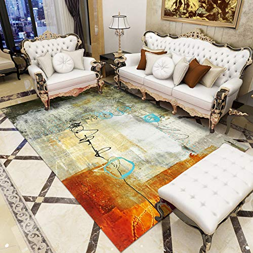 QWEASDZX Carpet Creative Personality Design Furry Carpet High Pile Long Pile Carpet Non-Slip Decorative Carpet 40x60cm