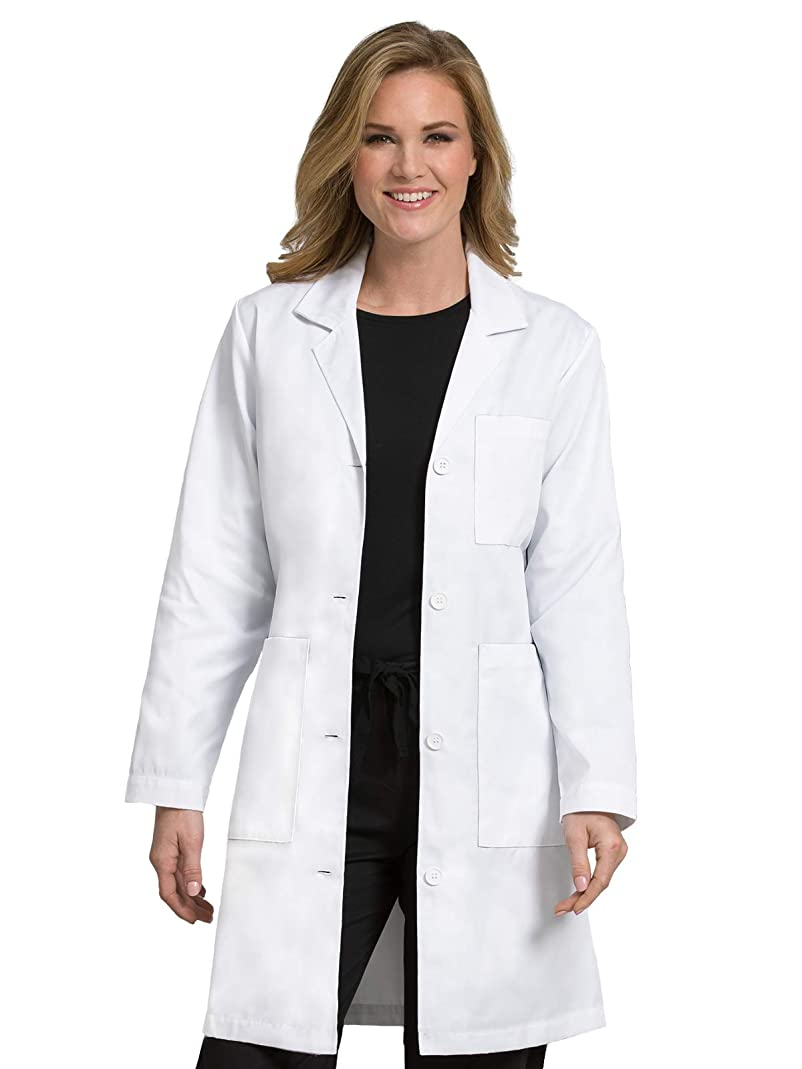 Med Couture Women's Lab Coat 37 inch White Labcoat Long gtxr56280