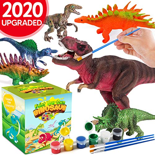Innorock Crafts and Arts Set Painting Kit - Dinosaur Toys Crafts Kit for Kids - Art and Craft Supplies Animal for Toddlers Paint Your Own Dinosaurs Activity for Children Ages 4 5 6 7 8 9 Years Old