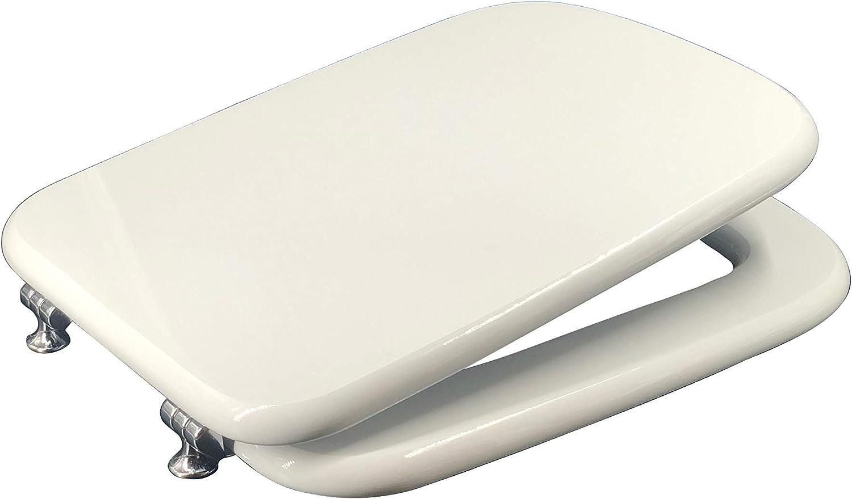 Yes Brand Cheap Sale Venue Dolomite Rio Dedicated Toilet Seat Austin Mall Cover MDF White 44 3 x