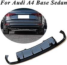 JC SPORTLINE A4 B9 Sedan Diffuser, fits Audi A4 Base Sedan 2017 2018 2019 PP Rear Lip Diffuser Bumper Cover Spoiler (Regular, Black)