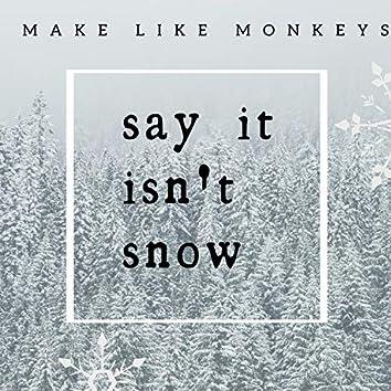 Say It Isn't Snow