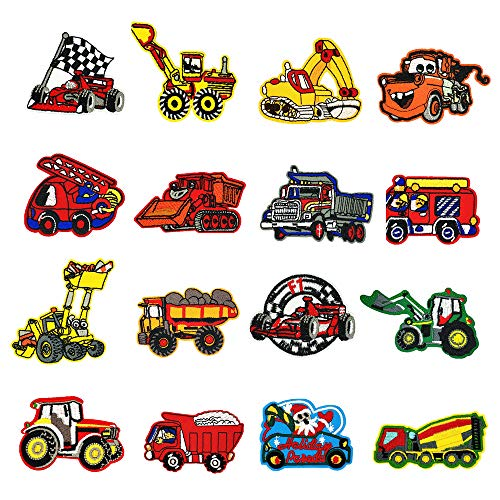 DLAKIND Parches Coche 16-PACK Parches Para Niños Para Planchar O Coser,Ideales...