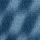 babrause® Baumwollstoff Pünktchen Jeans Blau Webware