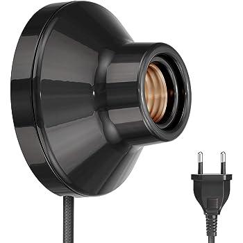 BETOY Lampenfassung Wei/ß F/ür Lampe Halter 10 Pack E27 Kunststoff und Porzellan rund-Fassung,rund E27 Wand-Fassung Elektra
