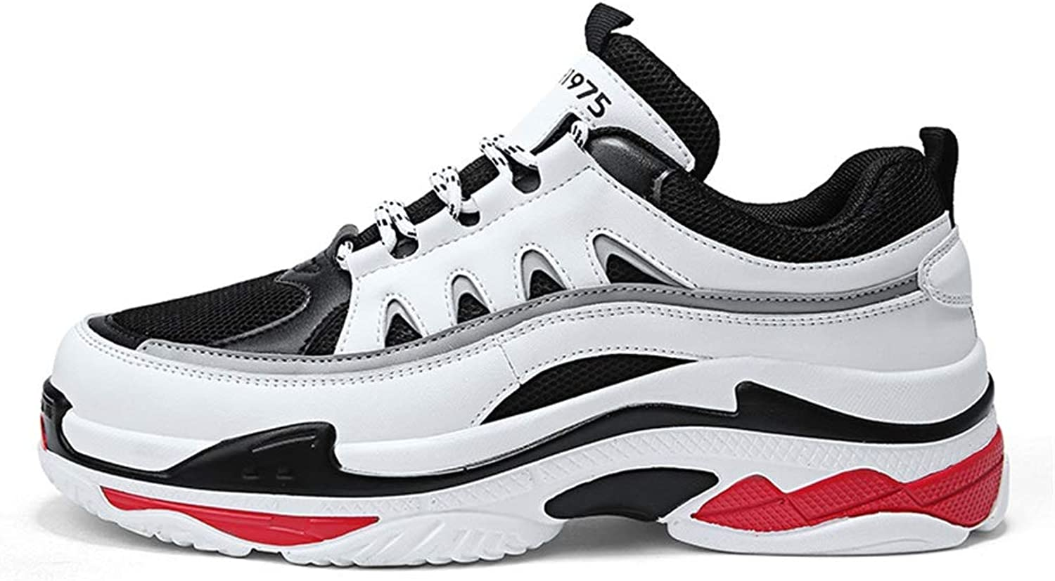 Men's shoes, Spring Fall Large Size Sports shoes Casual Student Running shoes Youth Platform shoes Comfort Athletic shoes Personality Sneakers shoes Light Soles (color   A, Size   43)