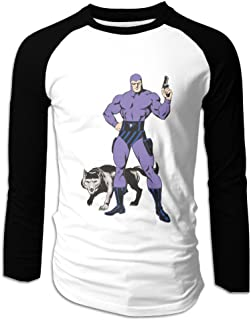 Men's The Phantom Comic Superhero Long Sleeves Raglan Tee Shirt
