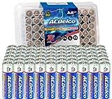 ACDelco 60-Count AA Batteries, Maximum Power Super Alkaline Battery, 10-Year Shelf Life, Recloseable Packaging