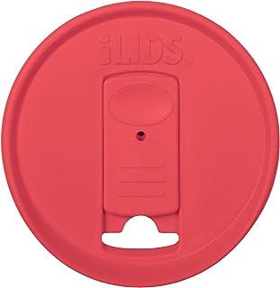 iLids Mason Jar Drink Lid, Regular Mouth, Coral, 2-Pack