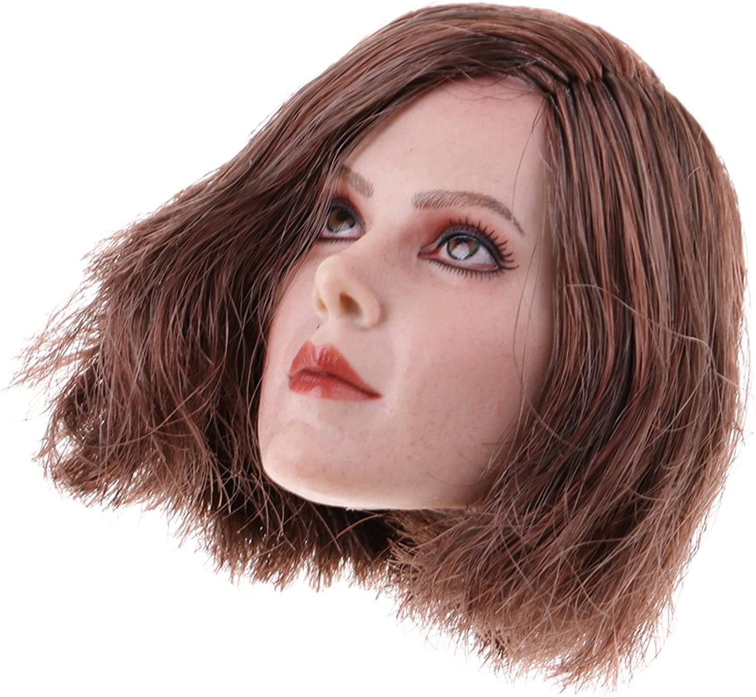 MagiDeal 1 6 Scale Head Sculpt Female Model for 12inch Action Figure Body Doll Toys B