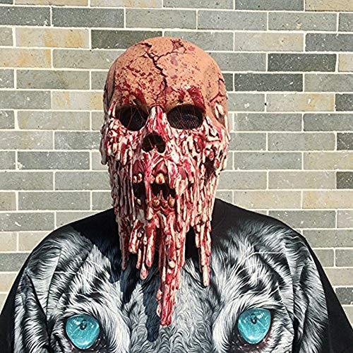 Morbuy Terror Máscara de Halloween, Adulto Látex Novedad Horror Espeluznante Cabeza Máscaras Cara Fiesta de Disfraces Cosplay (Fantasma de Sangre)