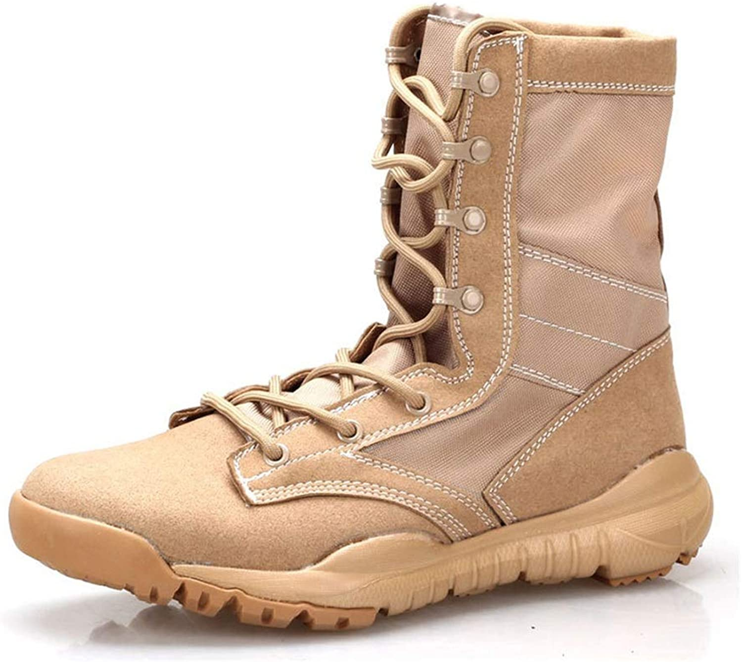 WWJDXZ Men's Boots Ultralight Combat Boots Tactical Non-Slip Wear Resistant Outdoor Comfortable Unisex Leather Boots