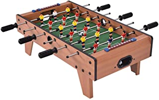 "Giantex 27"" Foosball Table, Easily Assemble Wooden Soccer Game Table Top w/Footballs, Indoor Table Soccer Set for Arcades, Game Room, Bars, Parties, Family Night"