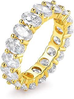 خاتم إترنتي مطلي بالذهب الأبيض عيار 18 قيراط مطلي بالذهب الوردي والذهب من بارزل