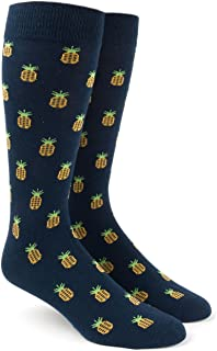 The Tie Bar Pineapple Men's Cotton Blend Dress Socks
