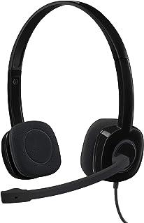 Headset com fio Logitech H151 com Microfone com Redução de Ruído e Conexão 3,5mm