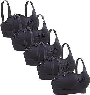 Lataly Womens Sleeping Nursing Bra Wirefree Breastfeeding Maternity Bralette Pack of 5