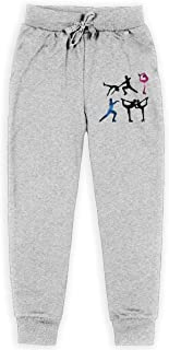 AaAarr Youths Figure Skating Drawstring Sweatpants for Boys and Girls