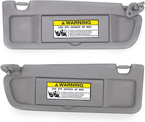 high quality Gelunxin Left Driver sale & Right Passenger Side Sun Visor wholesale Compatible with 2006-2011 Honda Civic Replaces 83230-SNA-A01ZA/83280-SNA-A01ZA (Pair,Atlas Gray) sale