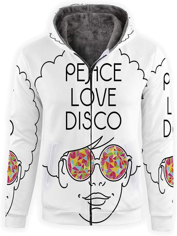 IPrint Zipper Hoodies Unisex 3D Hoodies Sweatshirts 70s Party Decorations