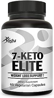Body Vigor 7-Keto Elite, 7-Keto DHEA Supplement with Green Tea Extract and Chromium, 60 Vegetarian Capsules