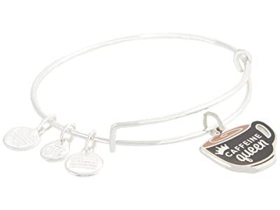 Alex and Ani Color Infusion Caffeine Queen Bangle Bracelet (Shiny Silver) Bracelet