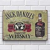 Placa Decorativa em MDF com 20x30cm - Modelo P125 - Jack Daniels