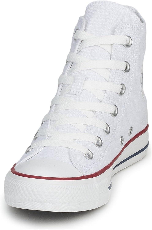 Converse Unisex Chuck Taylor All Star HI Basketball shoes (7 B(M) US Women   5 D(M) US Men, Optical White)