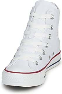 Converse Unisex Chuck Taylor All Star HI Basketball Shoe (7 B(M) US Women / 5 D(M) US Men, Optical White)