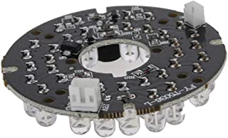 Othmro 36 LEDs Board 90 Degree Round Plate Board Bulb for CCTV Security Camera White 1pcs