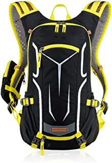 Rjj Cycling Backpack Outdoor Cross-Country Running Hiking Backpack Hiking Backpack Exquisite (Color : Yellow)