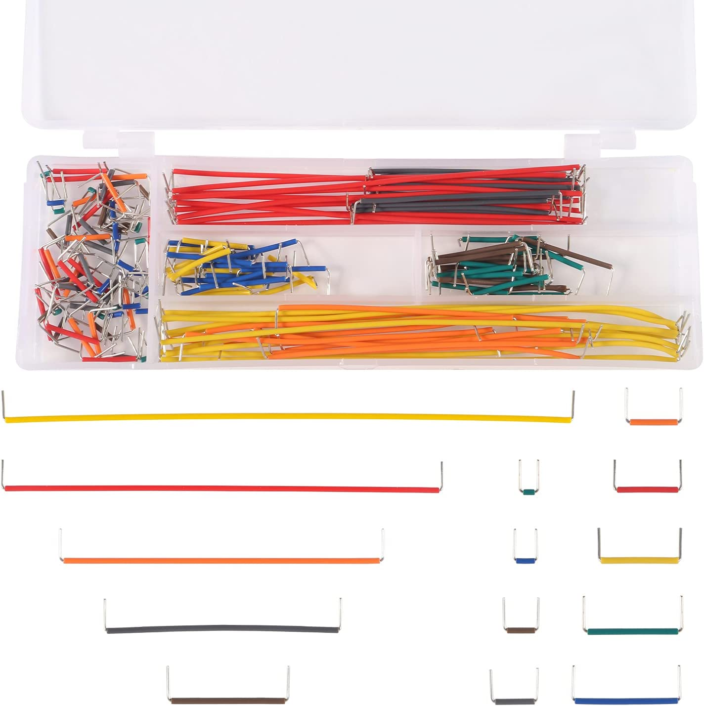Aoicrie Jumper Wire Kit Preformed 140 Max 84% OFF Breadboard Luxury Pieces