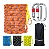 WEREWOLVES Climbing Rope, 32ft/65ft/98ft/165ft/230ft High Strength Outdoor Safety Static Rock Climbing Rope, Escape Rope, Rappelling...