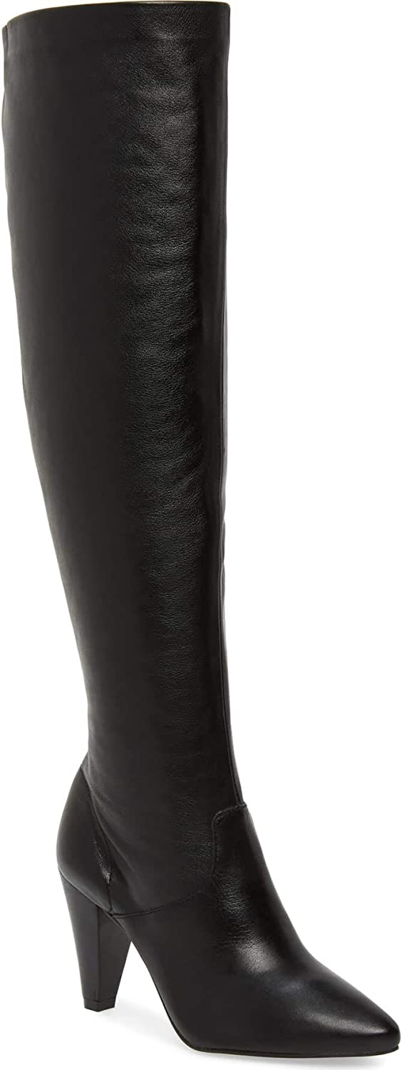 Lust For Life California Cheap super special price Over Gorgeous Knee Leather Mid Heel A Boot Black