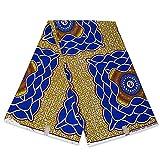 Afrikanischer Stoff, blaues Schild, Wachstuch –
