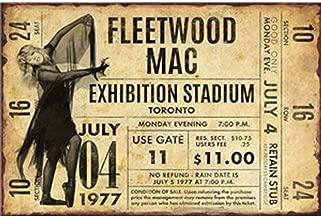 FlowerBeads Old Tin Signs Metal Plate Sign, Bar Pub Club Mural Man Cave Decor Art Wall Poster - Fleetwood Mac 30X20Cm