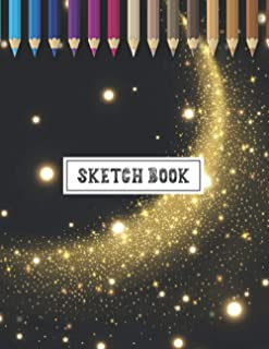 Sketchbook: Large Drawing Blank Notebook Journal with Date | Great Gift for Budding Artists & Art Lovers | Abstract Galaxy...