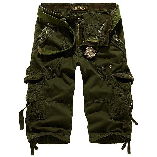 e2842bcaab Mochoose Men's Summer Casual Cotton Twill Cargo Shorts 3/4 Multi Pockets  Outdoor Wear Pants