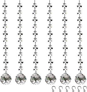 Perlen Bleikristall zum aufhängen 50-tlg Set Kristall Zapfen u deko. basteln