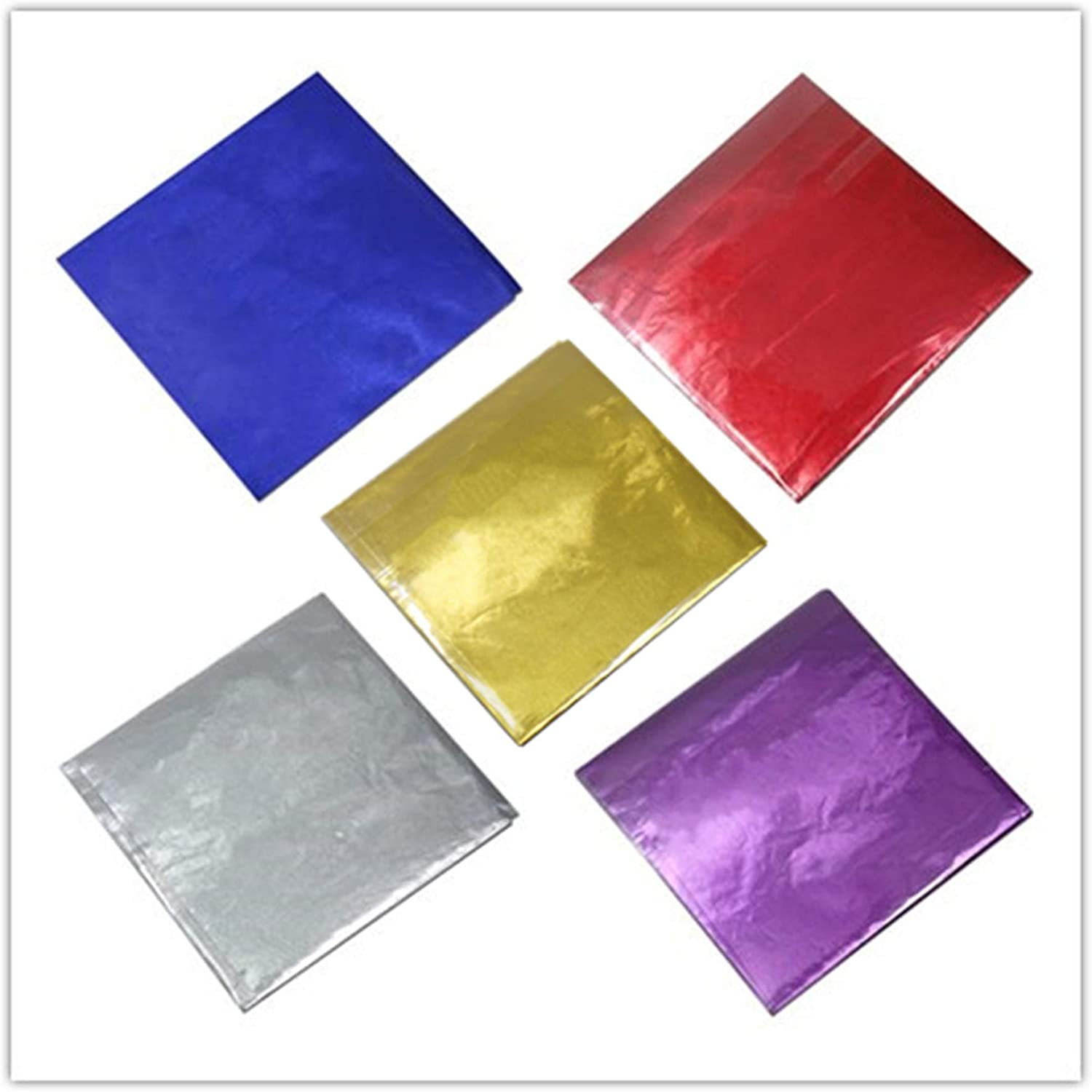 500 Pcs 5 Colors Chocolate Candy W Foil Wrappers Aluminium Paper Boston Mall Max 89% OFF