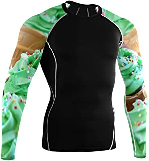 DEZIRO Delicioso Cupcake manga larga ciclismo Camisas gimnasio camisa
