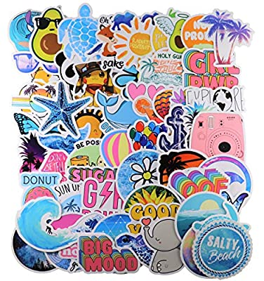 65 pcs hydroflask Stickers for Water Bottles,Cute Funny Waterproof Vinyl Stickers Decals for Kids,Teens and Girls,Unique Durable Aesthetic Trendy Sticker Perfect for Hydro Flask,Laptop,Computer from A Sticker Shop