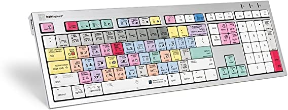 Logickeyboard keyboard Designed for Adobe Photoshop CC Compatible with macOS - Part Number LKBU-PHOTOCC-CWMU-US