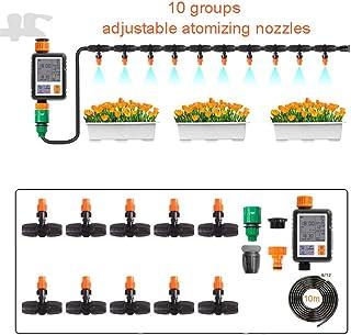 نظام الري للحدائق، طقم الري التلقائي مع مؤقت رقمي، معدات الري ذاتية التوفير للدفء، الفناء الخلفي، السرير، الباحة، العشب، B