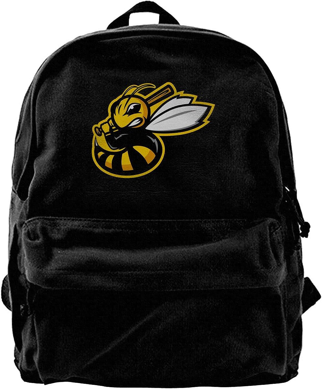 Ferocious Bees Fashion Lightweight Canvas Shoulder Backpack for Women & Men