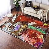 Coobal Rick and Mo-RTY - Alfombra grande para suelo de yoga, para niños, sala de juegos, dormitorio, 3 x 5 pies (90 x 150 cm)