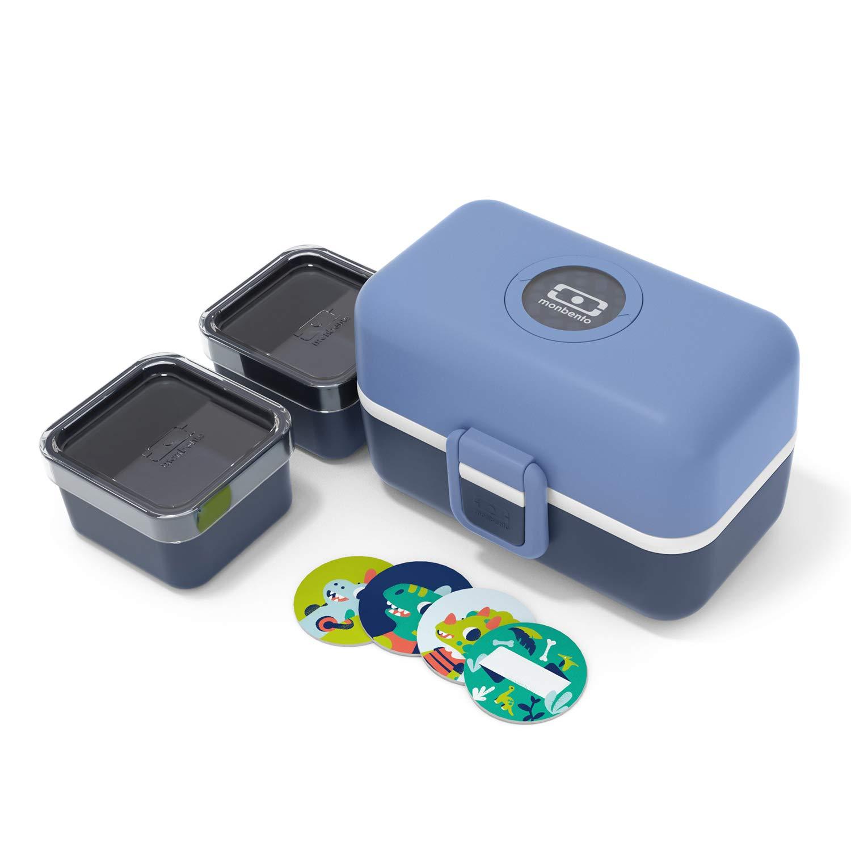 monbento - MB Tresor Azul Infinity Fiambrera Infantil - Lonchera para niños 3 Compartimientos - Caja merienda - Bento Box sin BPA - Segura y Duradera: Amazon.es: Deportes y aire libre